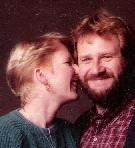 detail of formal portrait of Erin Ann & Gary Nordell in 1985